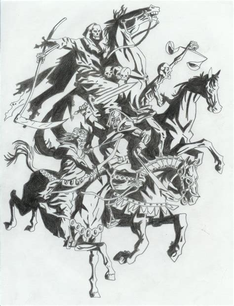 the four horsemen tattoo designs the four horsemen by certifiednerd jpg 600 215 785 pixelů