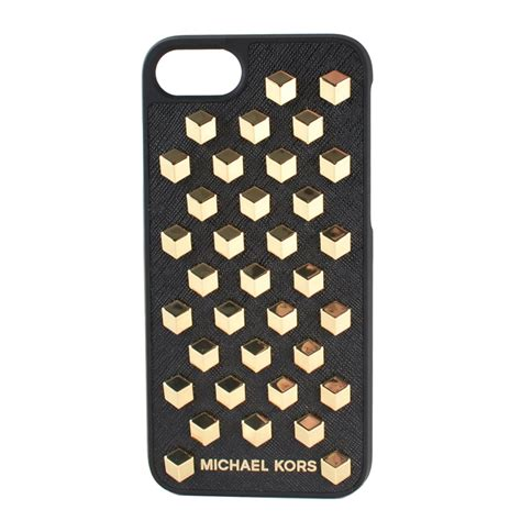 michael michael kors black leather studded iphone 7
