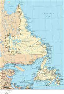 map of labrador canada newfoundland map map of newfoundland and labrador