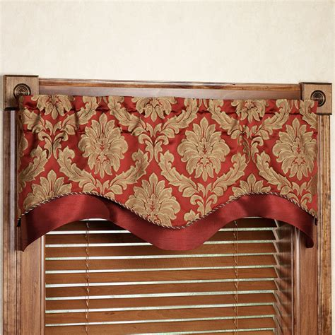 Scalloped Valance Curtains Darby Layered Scalloped Valance