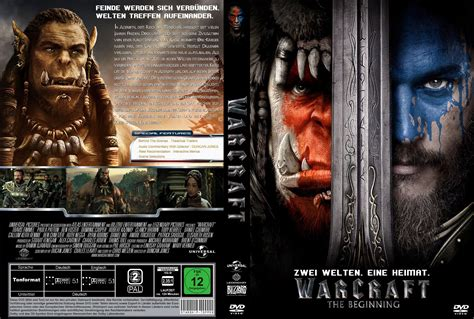 Kaset Dvd Bluray Blue Blueray Thor The World Murah warcraft the beginning dvd cover 2016 r2 german custom