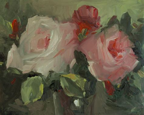 acrylic painting roses my new paintings cottage garden roses