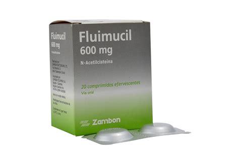 Fluimucil 600 Mg zambon fluimucil 600 mg 20 comprimidos mucol 205 ticos