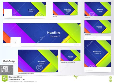 Design Header Social Media | cover mate flyers royalty free illustration