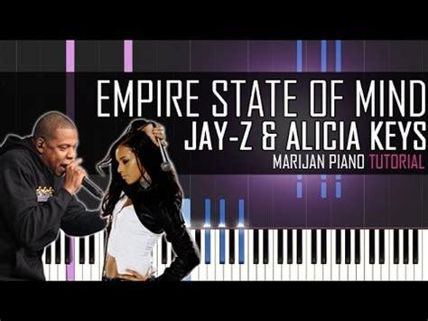 tutorial piano alicia keys how to play jay z ft alicia keys empire state of mind