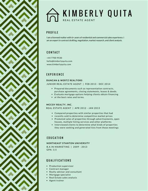 How To Type Resume Accent On Pc Green Pattern Accent Modern Resume Templates By Canva
