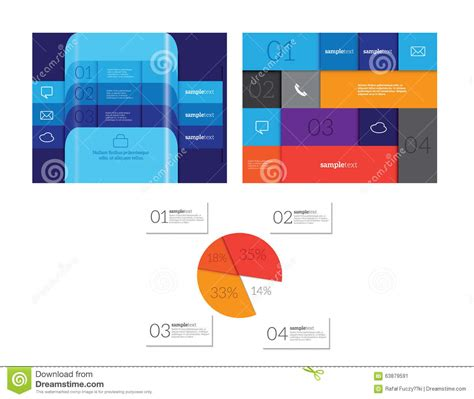 web layout options vector infographic elements set stock vector image 63879591