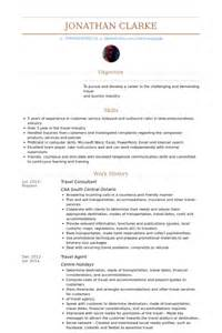 Travel Counselor Sle Resume by Consultant Voyage Exemple De Cv Base De Donn 233 Es Des Cv