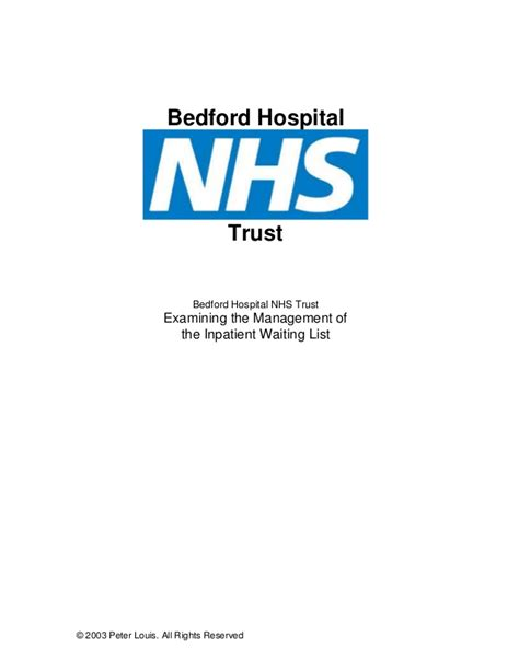 Bedford Hospital Nhs Trust Examining The Management Of bedford hospital nhs trust examining the management of