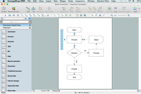 how to create a flowchart using conceptdraw free trial