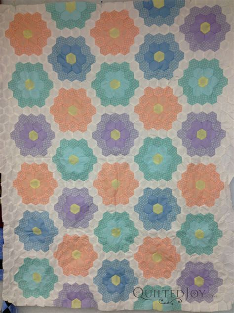 Grandmother S Flower Garden Quilt Grandmother S Flower Garden Quilt Makeover
