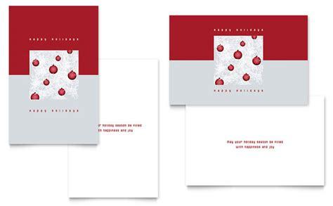 Half Fold Greeting Card Templates For Corel Wordperfect by Ornaments Greeting Card Template Design