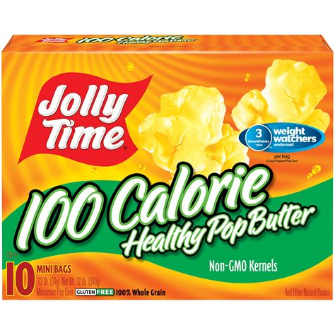 jolly time  calorie healthy pop butter microwave pop