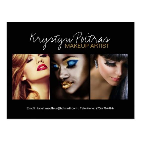 free makeup artist comp card template fully customizable makeup artist comp card postcard zazzle