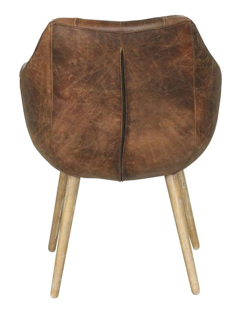 mackenzie dining chair distressed brown leather dining