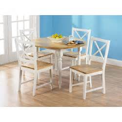 White Chair Dining Set Virginia Drop Leaf 5 Dining Set White And Walmart