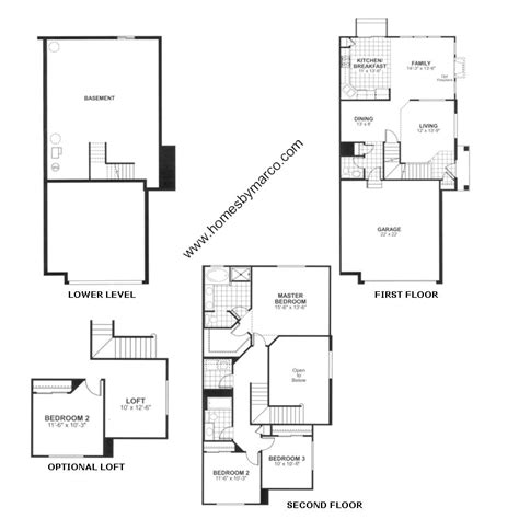 Somerset Floor Plan by Somerset Model In The Canterbury Fields Subdivision In
