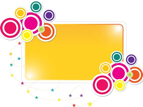 Colorful Label Frame Backgrounds Border Frames Powerpoint Purple White Yellow Templates Colorful Templates For Powerpoint