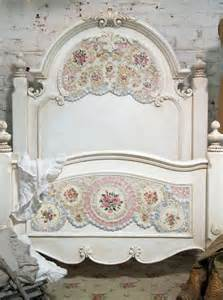 Painted cottage chic shabby mosaic romanitc bed by paintedcottages