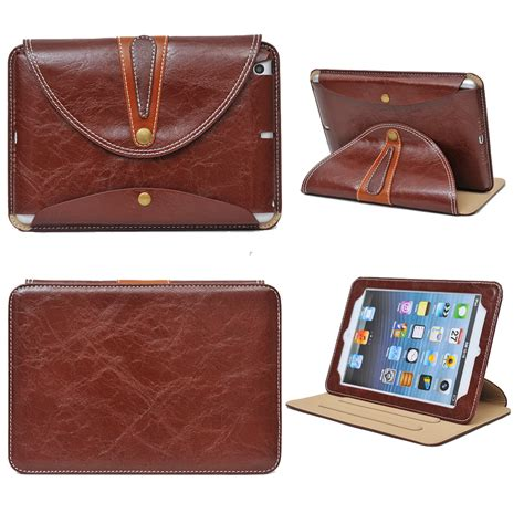 2 3 4 360 Rotating Leather Smart 360 rotating luxury leather smart pouch bag cover for