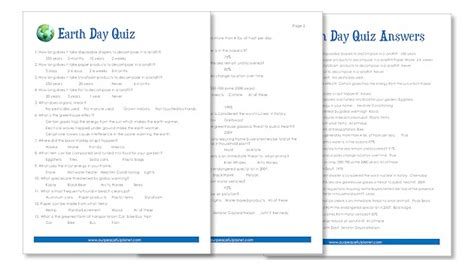 earth day quiz earth day quiz free printable