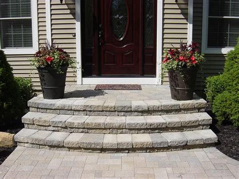 front steps steps stairs landings  wide curved
