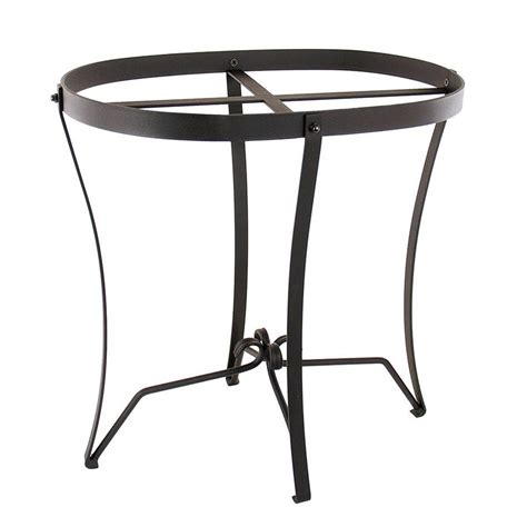 Iron Planter Stands by Shop Achla Designs 18 In Black Indoor Outdoor Oval Wrought