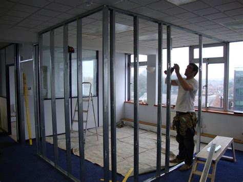 Stud Frame Partition Panel 2400hx2910l timber metal stud partition walls