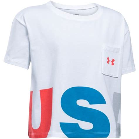 T Shirt Armour 1 Broy Crop armour usa crop sleeve t shirt