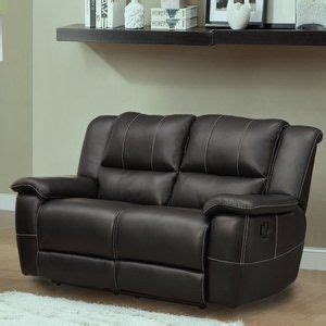 double recliner chairs cantrell bonded leather reclining loveseat black