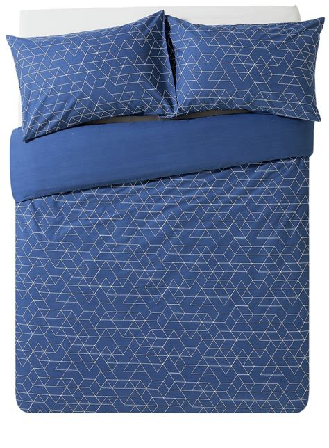 Bedding Set Geometric home navy geometric bedding set kingsize 6865995
