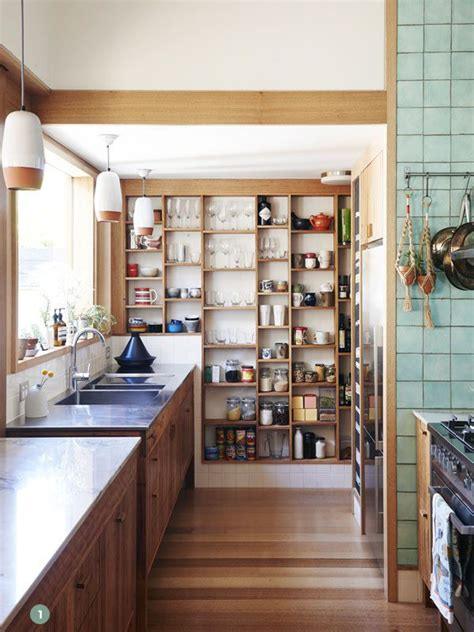 Open Kitchen Pantry Shelving Kitchen Inspiration 7 Stylish And Organized Open Pantries