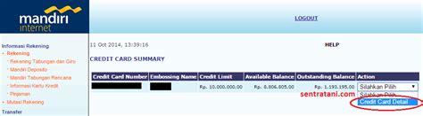 buat kartu kredit via online bank mandiri asrofi blogger semarang