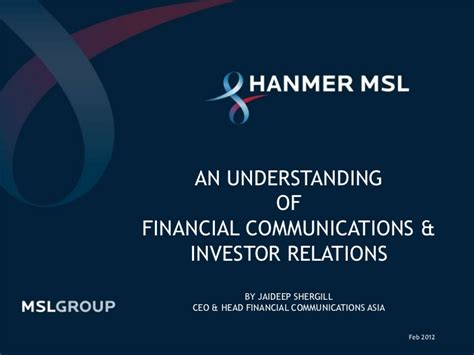 the handbook of financial communication and investor relations handbooks in communication and media books an understanding of financial communications and investor