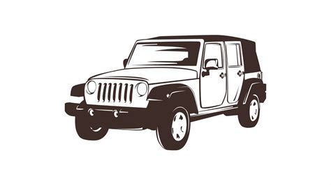 jeep drawing how to draw simple line art vector with coreldraw x7