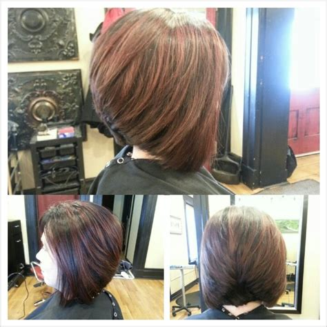 chocolate hair color with highlights for angled bobs chocolate hair color with highlights for angled bobs