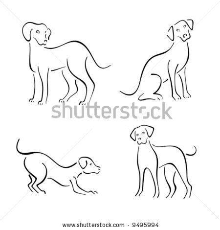 dog pattern drawing stock vector dog design set embroidery pinterest