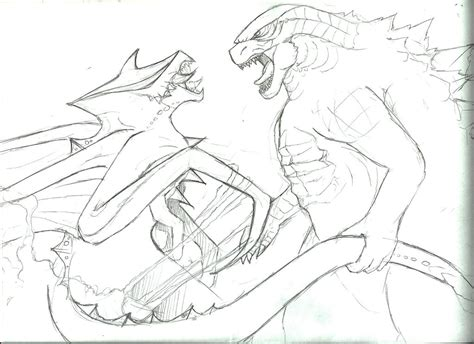 godzilla vs muto coloring pages scan0001 by sentinelprime99 on deviantart