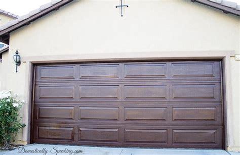 Wood Stained Garage Doors Diy Garage Door Makeover With Stain Domestically Speaking