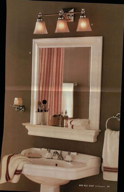 bathroom mirror with shelf framed bathroom mirror and shelf but with a hole in the