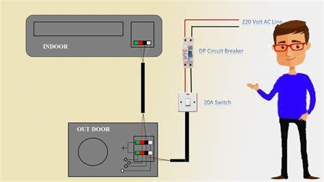 single phase split ac indoor outdoor wiring diagram air