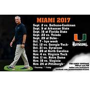 Analyzing The 2017 Miami Hurricanes Football Schedule