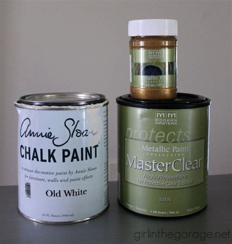 chalk paint alberta gold and white stenciled table themed makeover the o