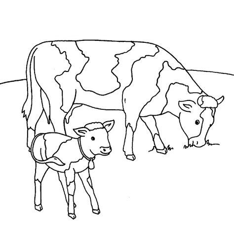ausmalbild bauernhof kuehe auf der weide kostenlos