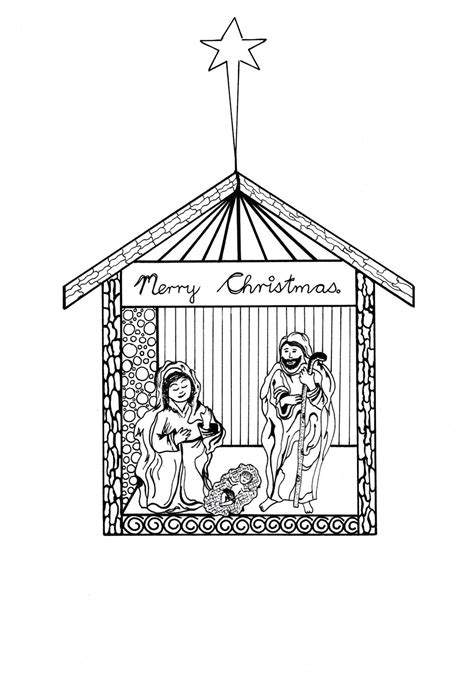 printable nativity scene to color free printable nativity scene coloring pages
