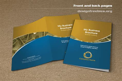 free bifold booklet flyer brochure indesign template no 2