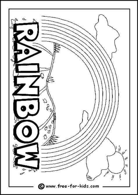 cool rainbow coloring page printable raindrops for children to color