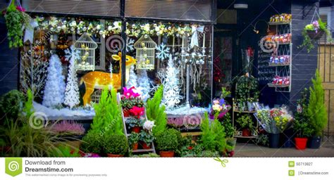 christmas shop window in ludlow stock photo image 50713827