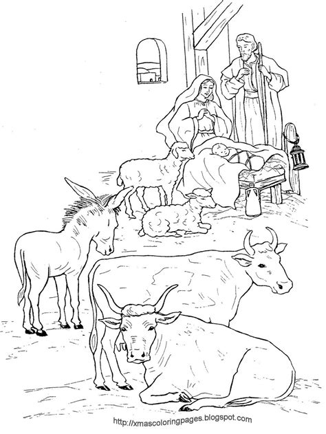 coloring page baby jesus in manger xmas coloring pages
