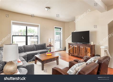 Beautiful Living Room With Tv Beautiful Living Room New Home Stock Photo 286917233